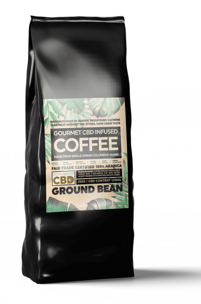 EQUILIBRUIM CBD INFUSED WHOLE BEAN COFFEE 50MG - 100G