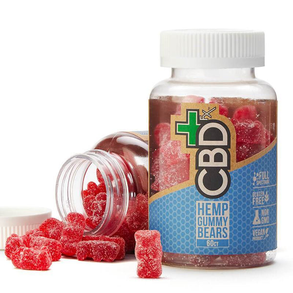 CBDFX CBD VEGAN GUMMY BEARS  300MG - JAR OF 60