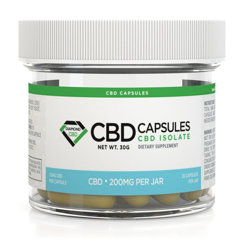 DIAMOND CBD CAPSULES 200MG - 20PCS