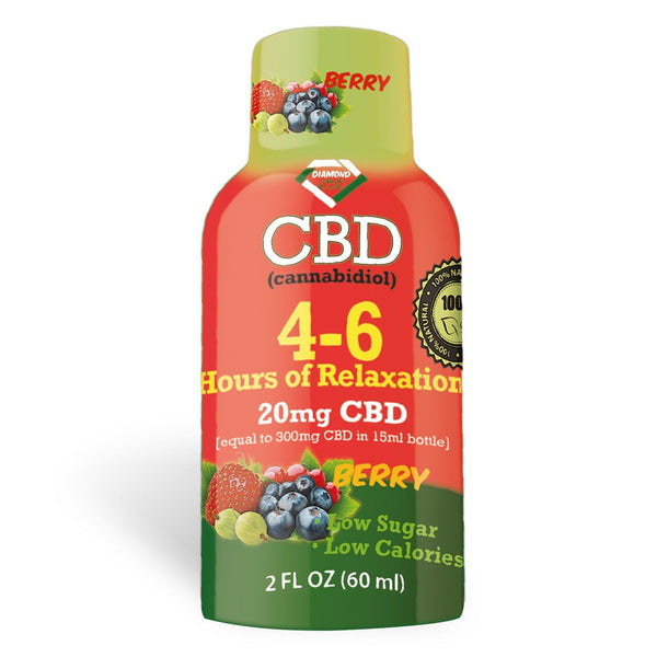 DIAMOND CBD RELAXATION SHOT BERRY 20MG - 60ML
