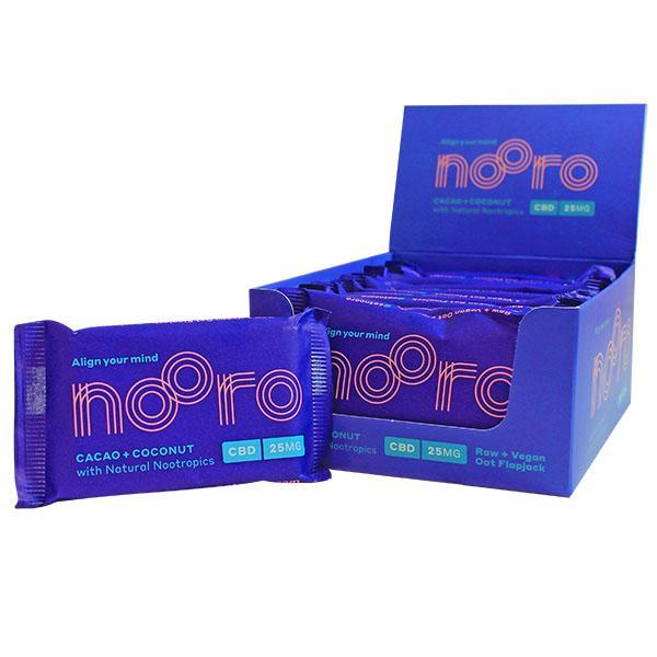 NOORO CBD RAW VEGAN FLAPJACK CACAO & COCONUT BAR - 25MG