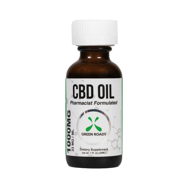 GREEN ROADS CBD BROAD SPECTRUM OIL 1000MG - 30ML