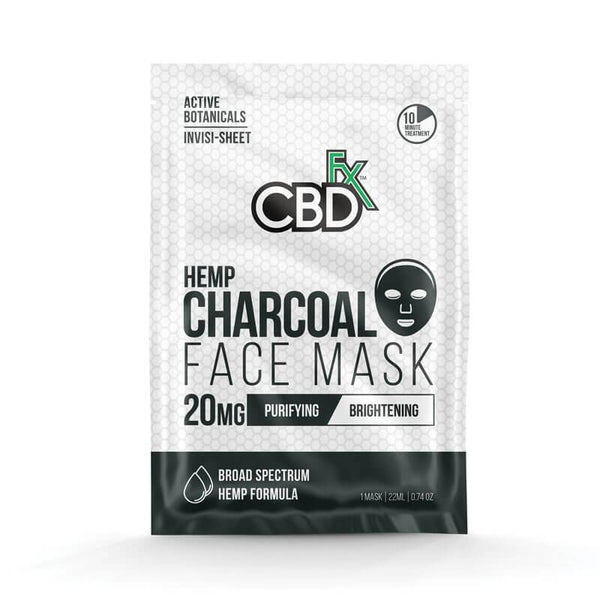 CBDFX CHARCOAL FACE MASK - 20MG