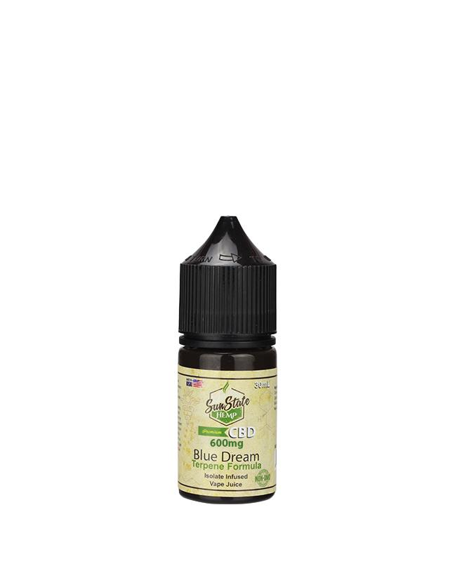 SUN STATE HEMP CBD E-LIQUID BLUE DREAM VAPE JUICE 600MG - 30ML