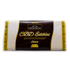 CANNASSEURS PREMIUM  CBD BELGIAN  WHITE CHOCOLATE BAR 100G (SATIVA)