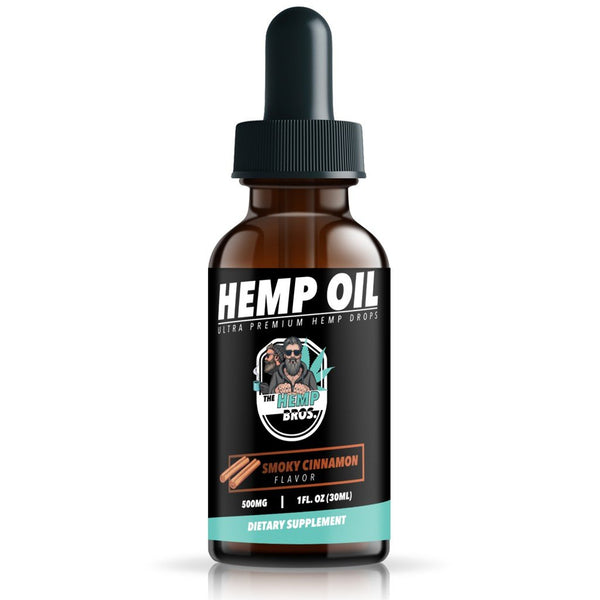 HEMP BROS CBD HEMP OIL EXTRACT SMOKY CINNAMON 500MG - 30ML