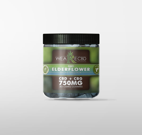 WE ARE CBD VEGAN GUMMIES ELDERFLOWER - 750MG