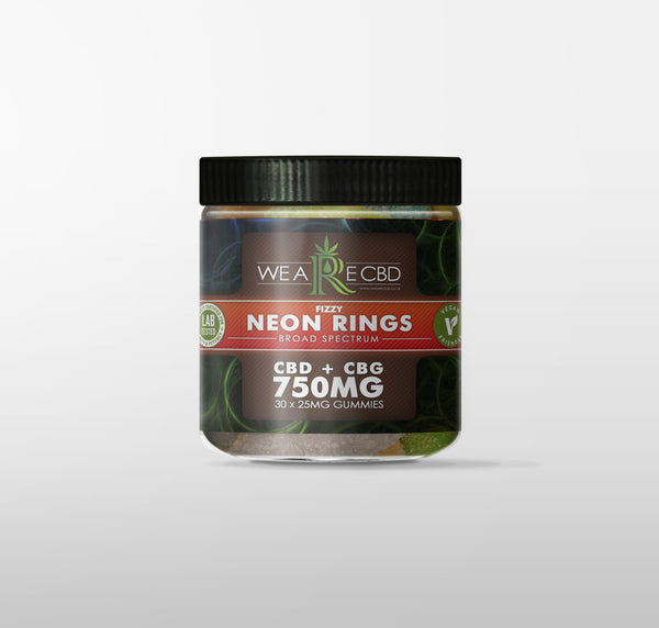 WE ARE CBD VEGAN GUMMIES NEON RINGS - 750MG