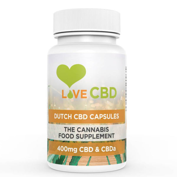 LOVE CBD 400MG DUTCH CBD CAPSULES – 80 X 5MG CBD CAPSULES