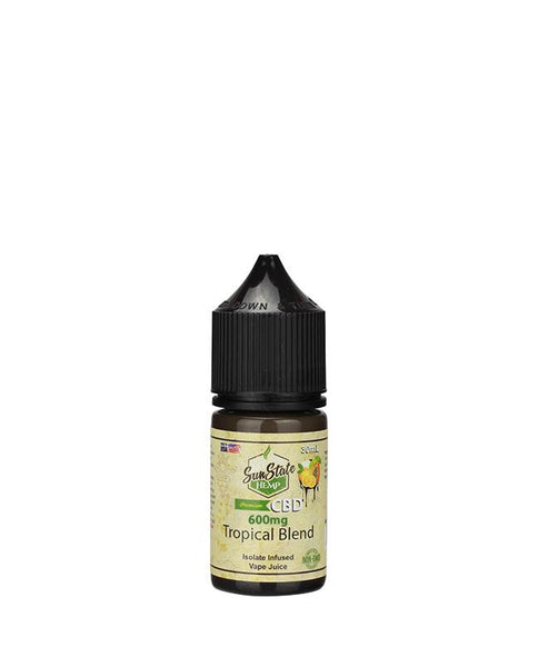 SUN STATE HEMP CBD E-LIQUID TROPICAL BLEND VAPE JUICE 600MG - 30ML