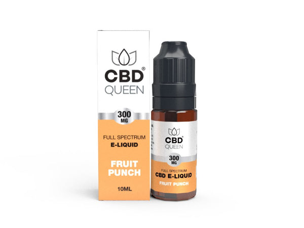 CBD QUEEN FULL SPECTRUM CBD E-LIQUID Various Flavours  300mg-600mg - 10ml