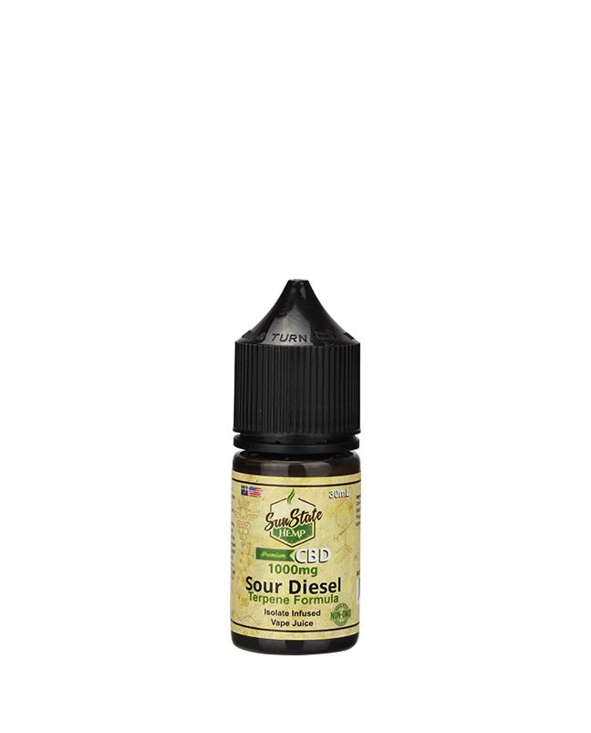 SUN STATE HEMP CBD E-LIQUID SOUR DIESEL VAPE JUICE 1000MG - 30ML