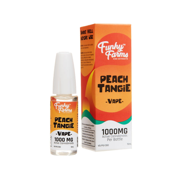 FUNKY FARMS CBD E-LIQUID PEACH TANGIE 1000mg - 15ml