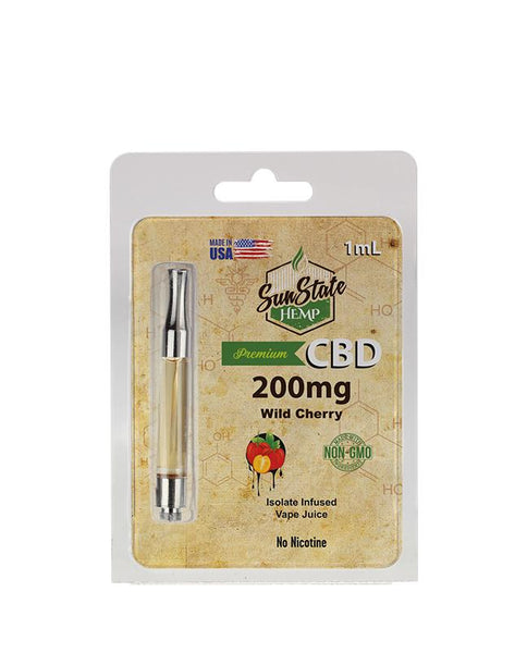 SUN STATE HEMP CBD WILD CHERRY PRE-FILLED CARTRIDGE 200MG - 1ML