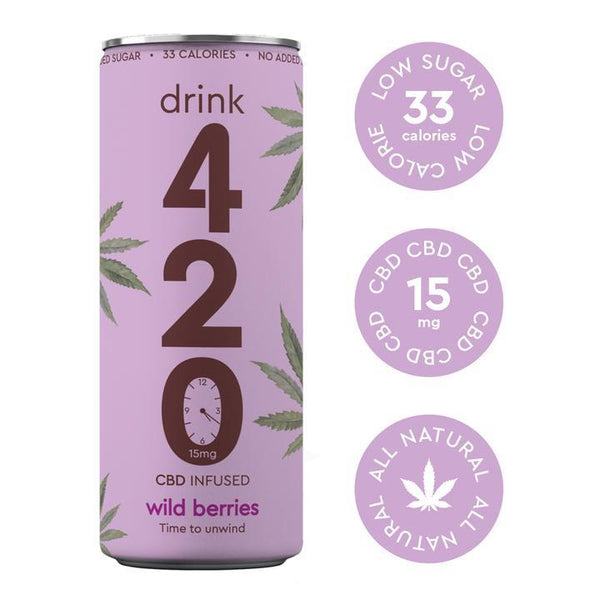DRINK 420 CBD INFUSED SWEET WILD BERRIES 15MG - 250Ml