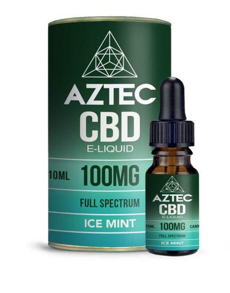 AZTEC CBD E-LIQUID ICE MINT 100mg-1000mg - 10ML