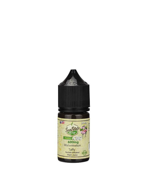 SUN STATE HEMP CBD E-LIQUID WATERMELON TAFFY VAPE JUICE 600MG - 30ML