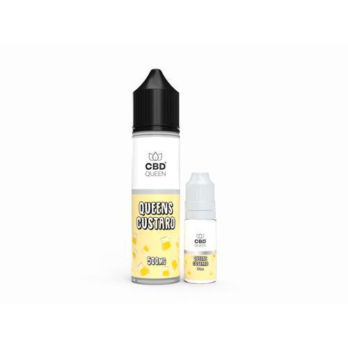 CBD QUEEN E-LIQUID QUEENS CUSTARD - 10ML