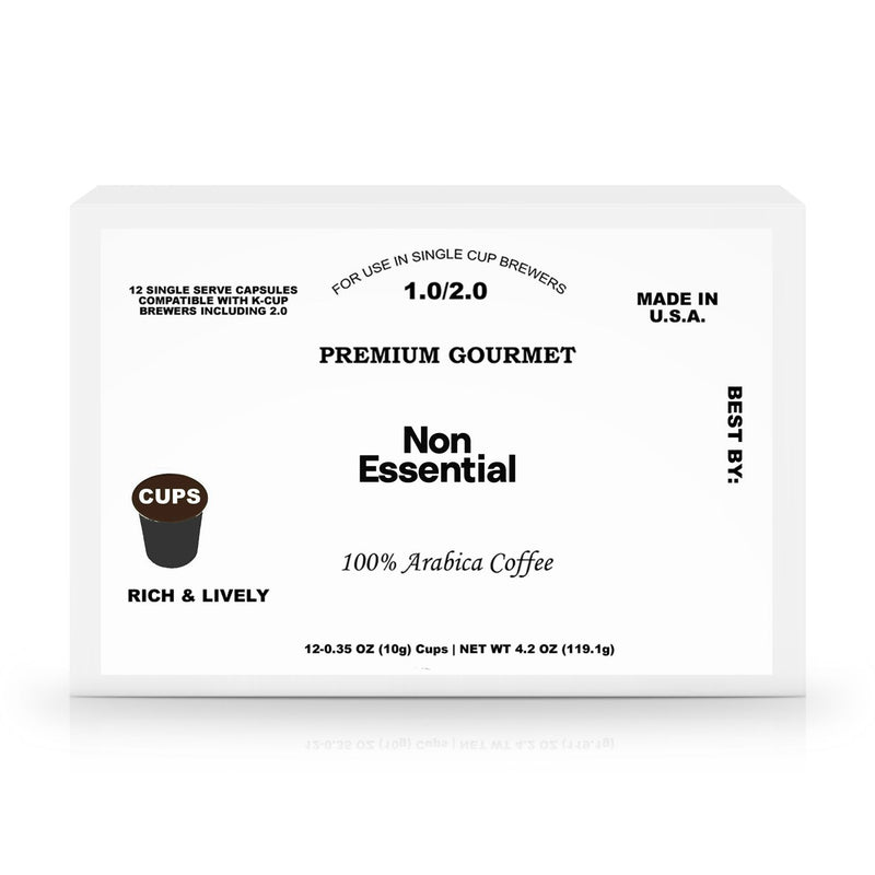 Non Essential 12 Pack Single Serve Coffee Capsules