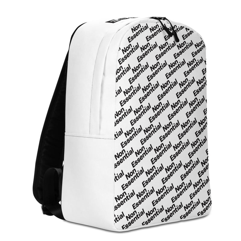 Non Essential Minimalist Pattern Backpack