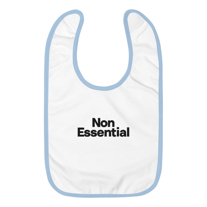 Non Essential Embroidered Baby Bib