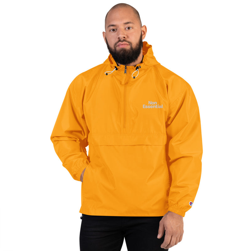 Non Essential Embroidered Champion Packable Jacket