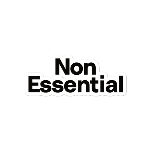 Non Essential Bubble-Free Stickers
