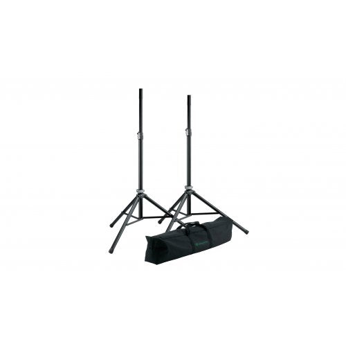 21449 Two Aluminum Speaker Stands with Carrying Case