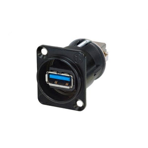 USB3.0 Jack Feed Through D-Type Panel Mount - NAUSB3