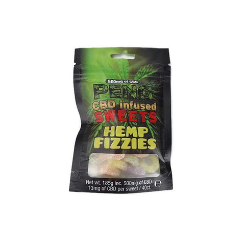 Peng CBD 500mg Infused Sweets-Hemp Fizzies - vapingdeviluk