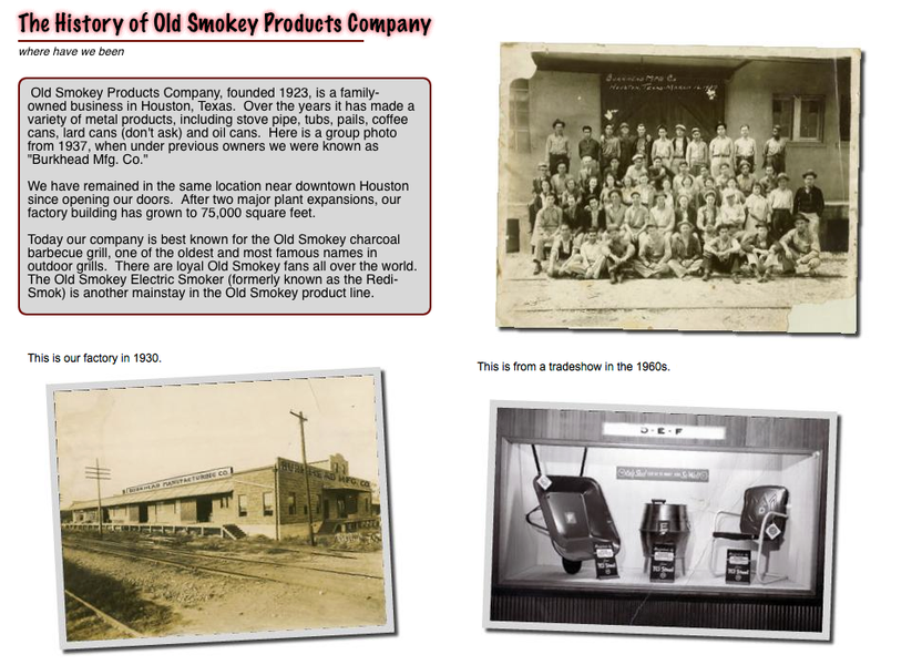 The History of Old Smokey Products Company