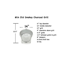 Load image into Gallery viewer, #14 Old Smokey Charcoal Grill