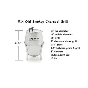 #14 Old Smokey Charcoal Grill