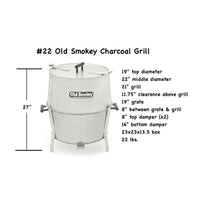 Load image into Gallery viewer, #22 Old Smokey Charcoal Grill