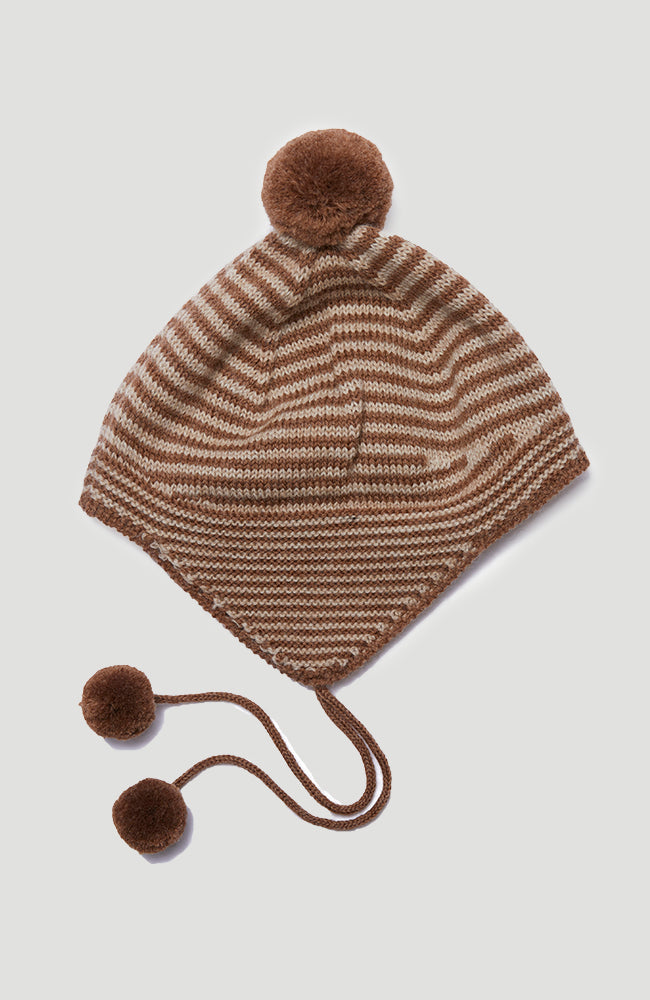 Tomami Knit Hat - Almond Stripe