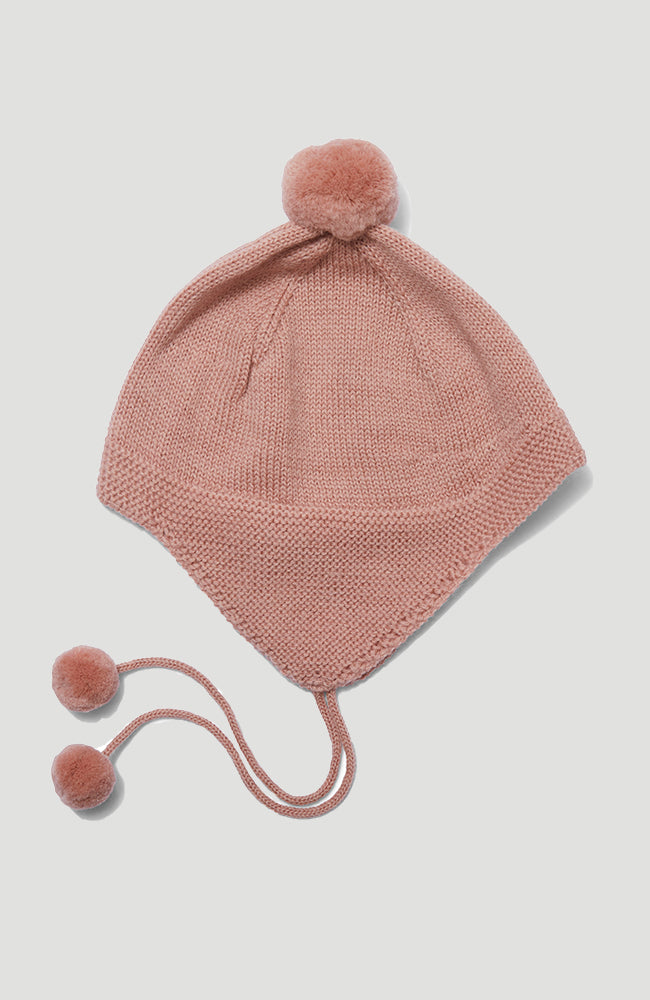 Tomami Knit Hat - Rose Blush