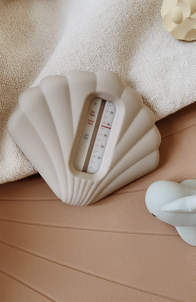 Silicone Bath Thermometer - Warm Grey