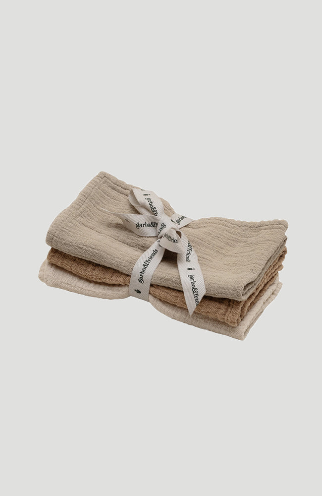 Muslin Burp Cloths 3-Pack - Olive