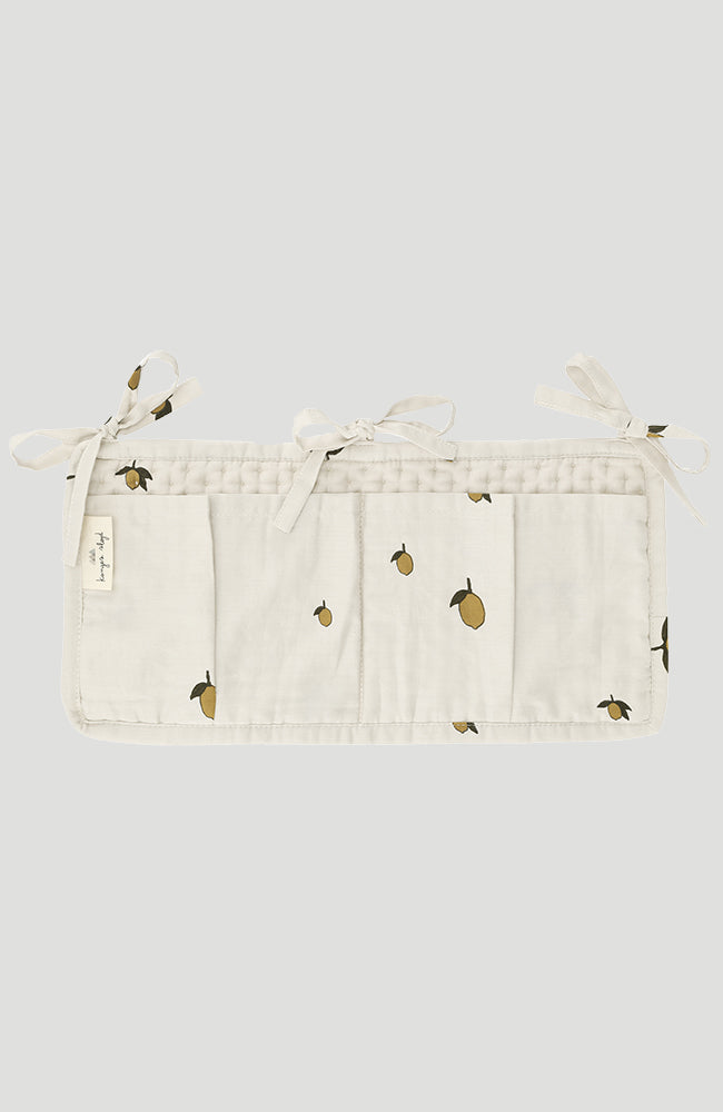 Quilted Bed Pockets - Lemon
