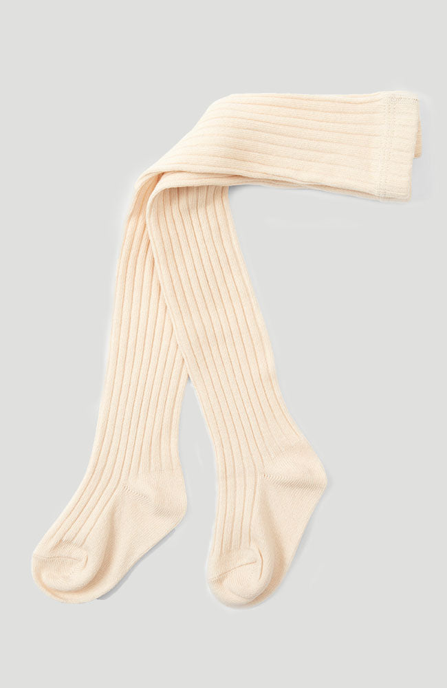 Rib Stockings - Creme