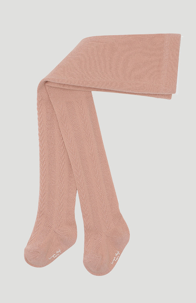 Pointelle Stockings - Rose Blush