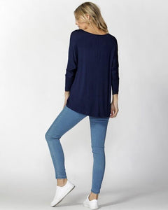 Betty Basics Milan Top (navy)