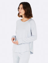Load image into Gallery viewer, Boody Goodnight Raglan Sleep Bamboo Top (Dove)