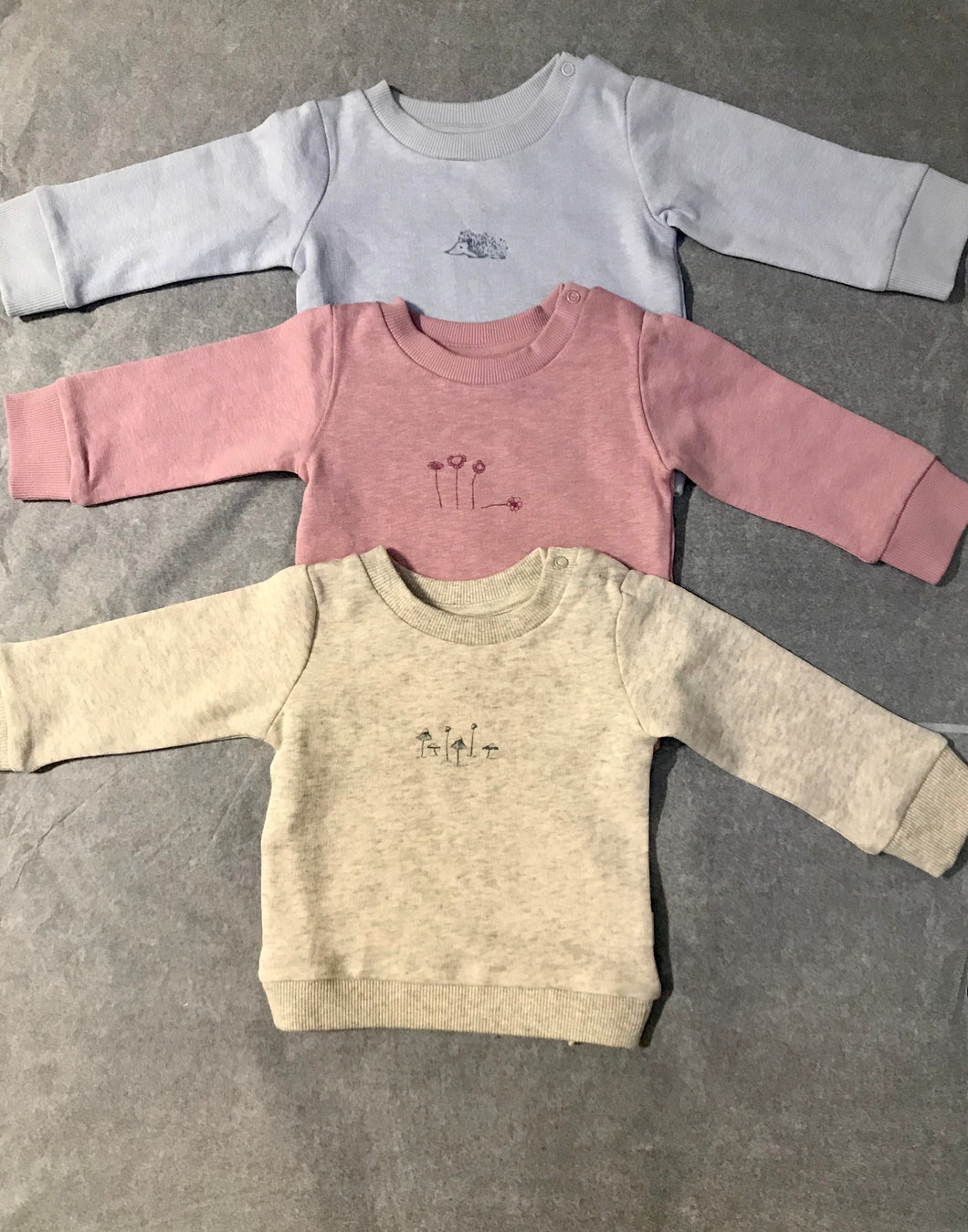 Pureborn Organic  Cotton Jumpers in   (Dove Blue, Grey Marle, Dusky Pink,)