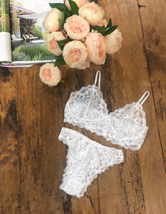 Lace Bralette (White) NZ Made