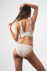 Hotmilk Warrior Plunge Contour Nursing bra - Ivory