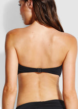 Load image into Gallery viewer, Seafolly Ruched Bandeau Bikini Top (Black) and (Chilli)