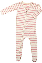 Load image into Gallery viewer, Boody Baby Long Sleeve Onesie (Pink Stripe)