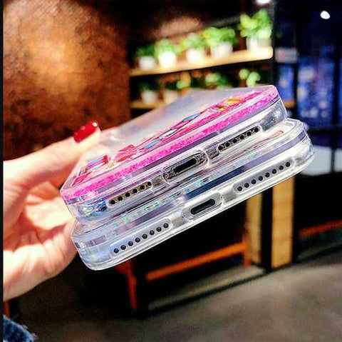 IPhone Liquid Dynamic Lipstick Cosmetics Palette Quicksand Brush Pattern Phone Fitted Case Cover