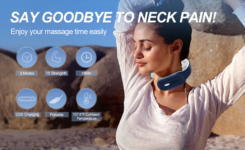 Cervical Vertebra Smart Neck Massager Electric Pain Relief Tool Neck Exercises For Pain